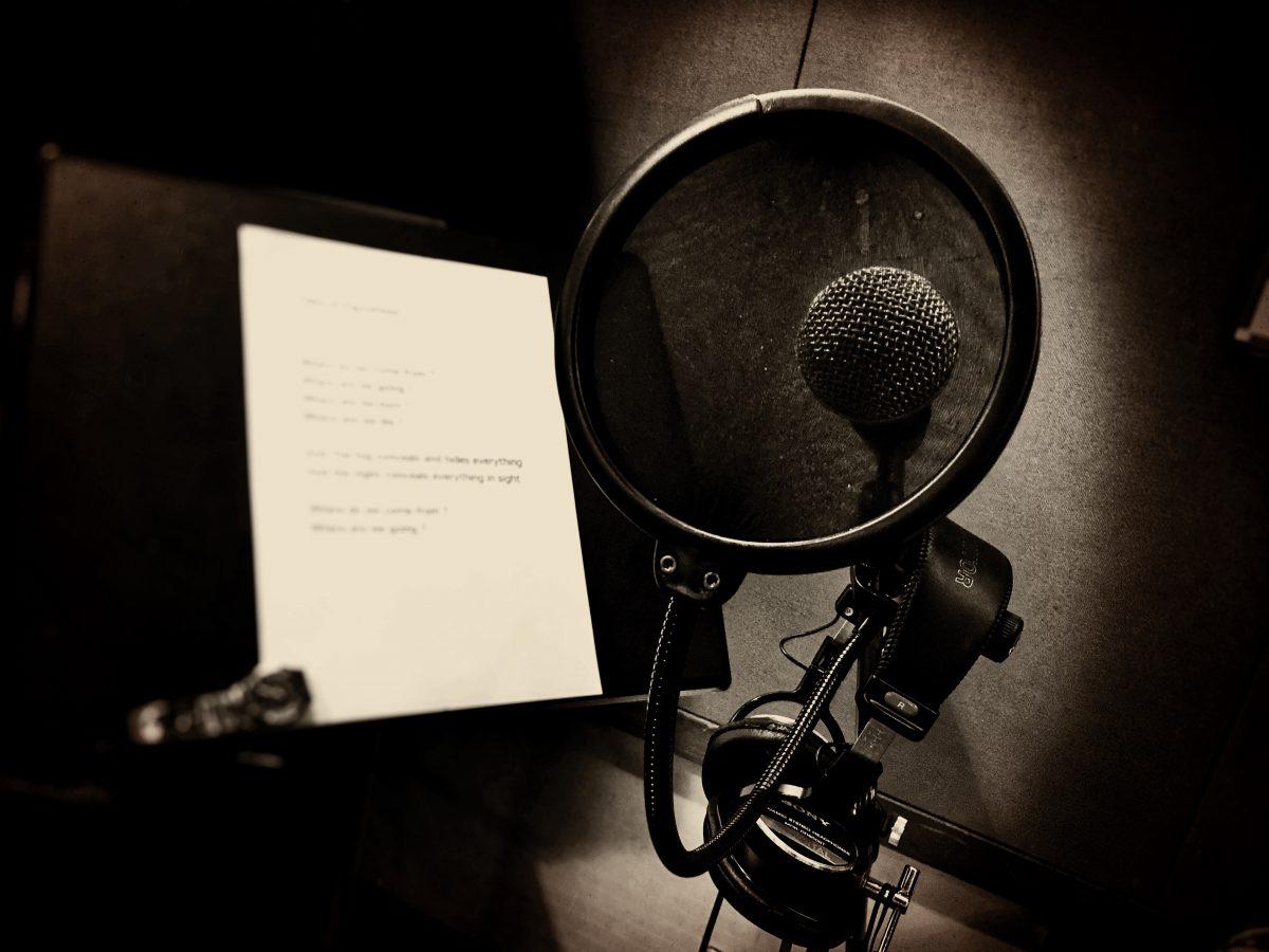 仮歌録音。